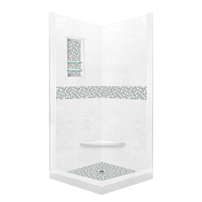 Custom Showers Your Way (Includes: Corner Pan, Walls, Thresholds, and Optional Glass)