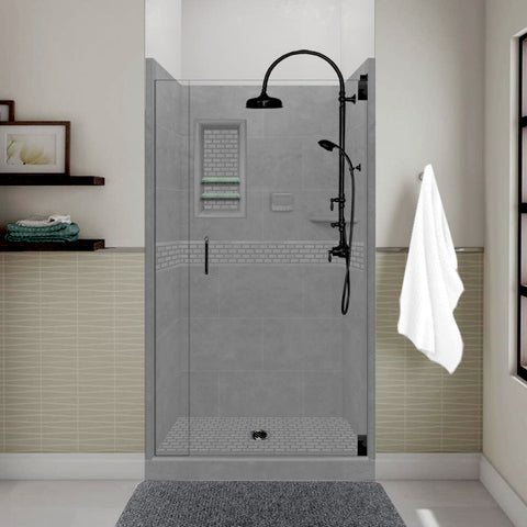 Classic Wet Cement Small Alcove Shower Kit