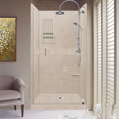 Pebble Brown Sugar Small Alcove Shower Kit