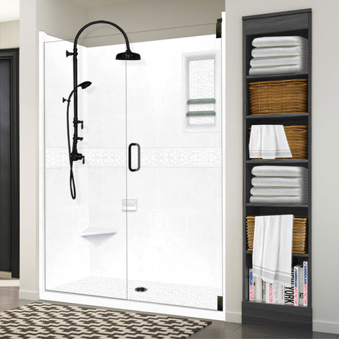 "Pebble Natural Buff 60"" Alcove Shower Kit"