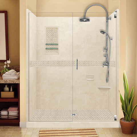 "Jewel Desert Sand 60"" Alcove Shower Kit"