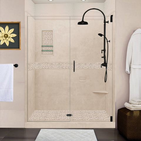 "Pebble Brown Sugar 60"" Alcove Shower Kit"