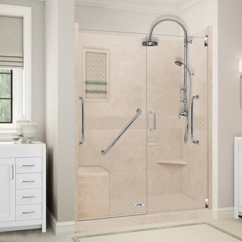 "Freedom Classic Brown Sugar 60"" Alcove Shower Kit"