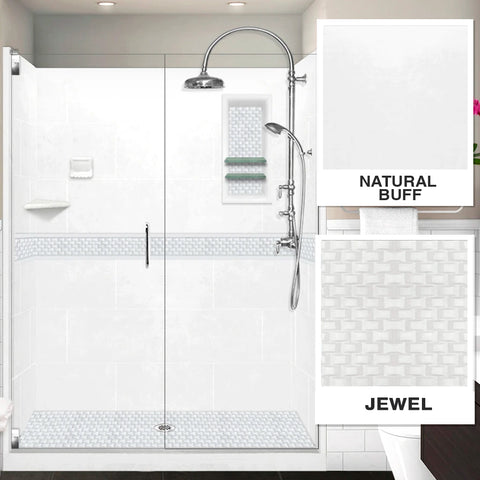 "Jewel Natural Buff 60"" Alcove Shower Kit"