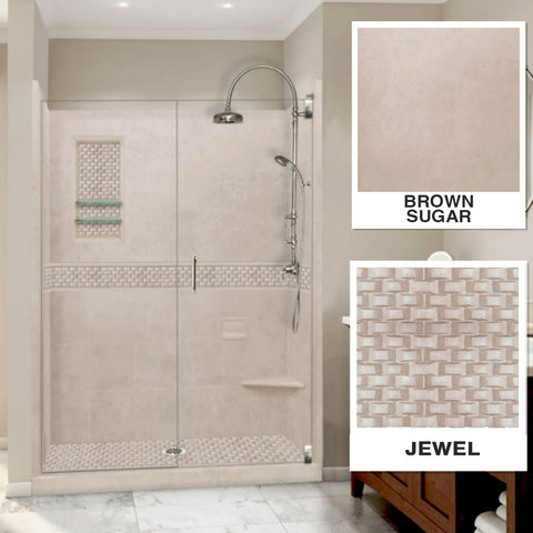 "Jewel Brown Sugar 60"" Alcove Shower Kit"