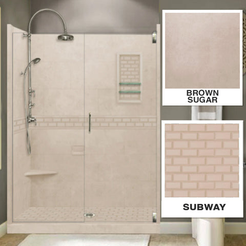 "Subway Brown Sugar 60"" Alcove Shower Kit"