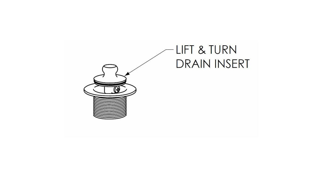 5712 Lift & Turn Tub Drain Insert  Service Parts - American Bath Factory