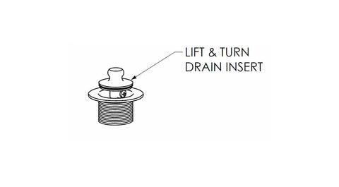 5712 Lift & Turn Tub Drain Insert - American Bath Factory