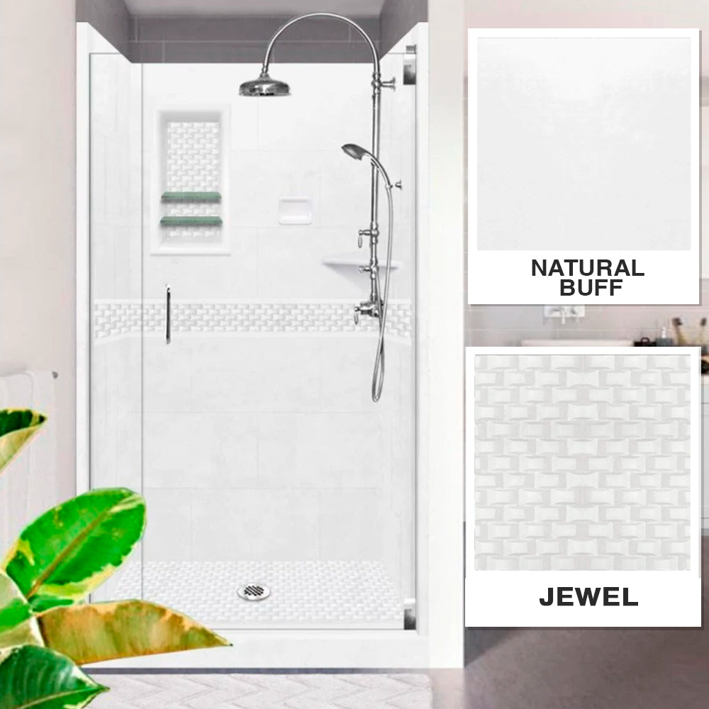 Jewel Natural Buff Small Alcove Shower Kit