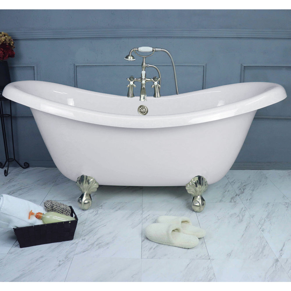 "Double Slipper 67"" Small Claw Feet - CLEARANCE  Clearance Bathtub - American Bath Factory"