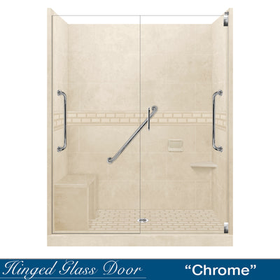 "Freedom Subway Desert Sand 60"" Alcove Shower Kit"