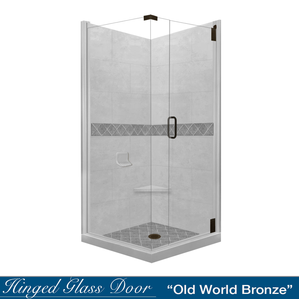 Diamond Portland Cement Corner Shower Kit