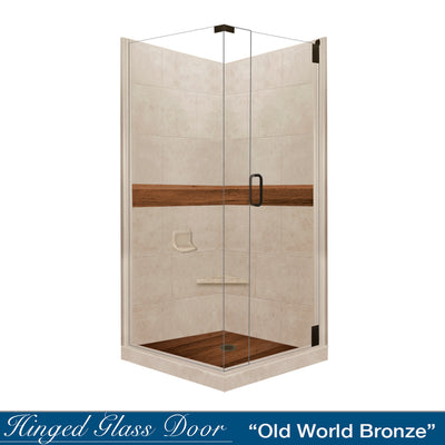 Burnt Oak Brown Sugar Corner Shower Kit