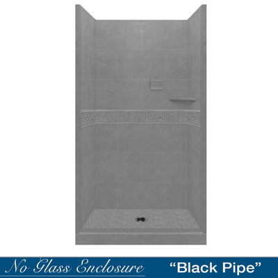 Pebble Wet Cement Small Alcove Shower Kit