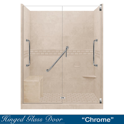 "Freedom Subway Brown Sugar 60"" Alcove Shower Kit"