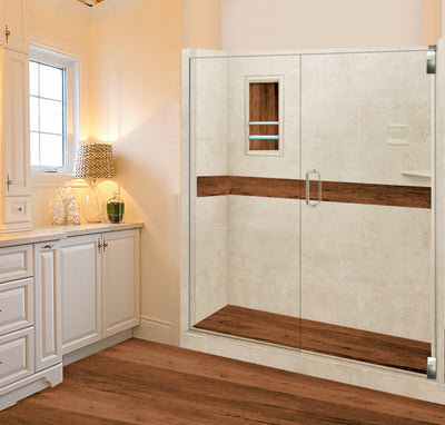 "Burnt Oak Desert Sand 60"" Alcove Shower Kit. USE COUPON to take 15% OFF price below"