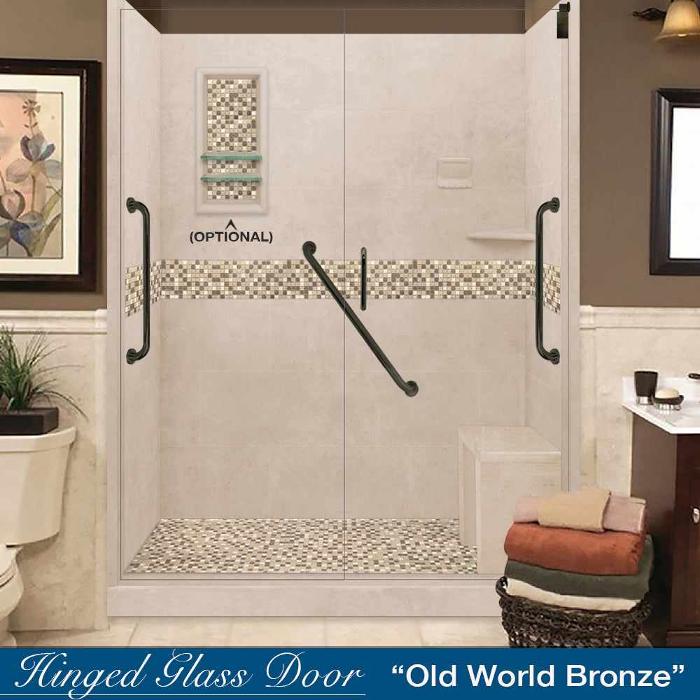 "Freedom Standard Roma Mosaic Brown Sugar 60"" Alcove Shower Kit"