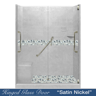 "Freedom Standard Newport Portland Cement 60"" Alcove Shower Kit  testing shower - American Bath Factory"