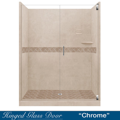"Diamond Brown Sugar 60"" Alcove Shower Kit  testing shower - American Bath Factory"
