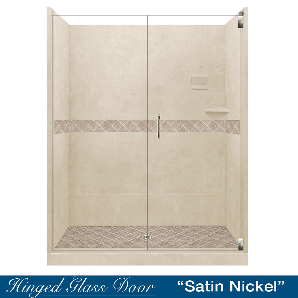 "Diamond Desert Sand 60"" Alcove Shower Kit  testing shower - American Bath Factory"