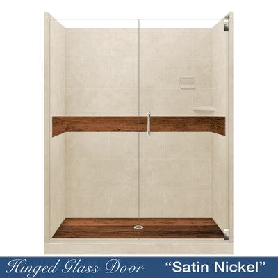 "FALL SAVINGS SAVE $500 OFF Burnt Oak Desert Sand  60"" Alcove Shower Kit"