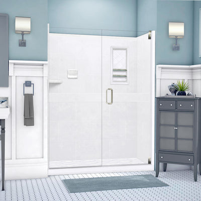 "Diamond Solid Natural Buff 60"" Alcove Shower Kit"