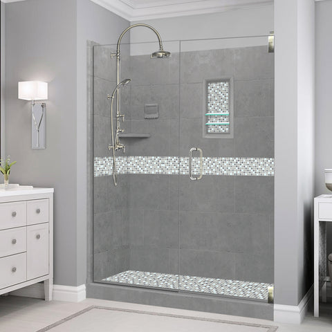 "Del Mar Wet Cement 60"" Alcove Shower Kit"