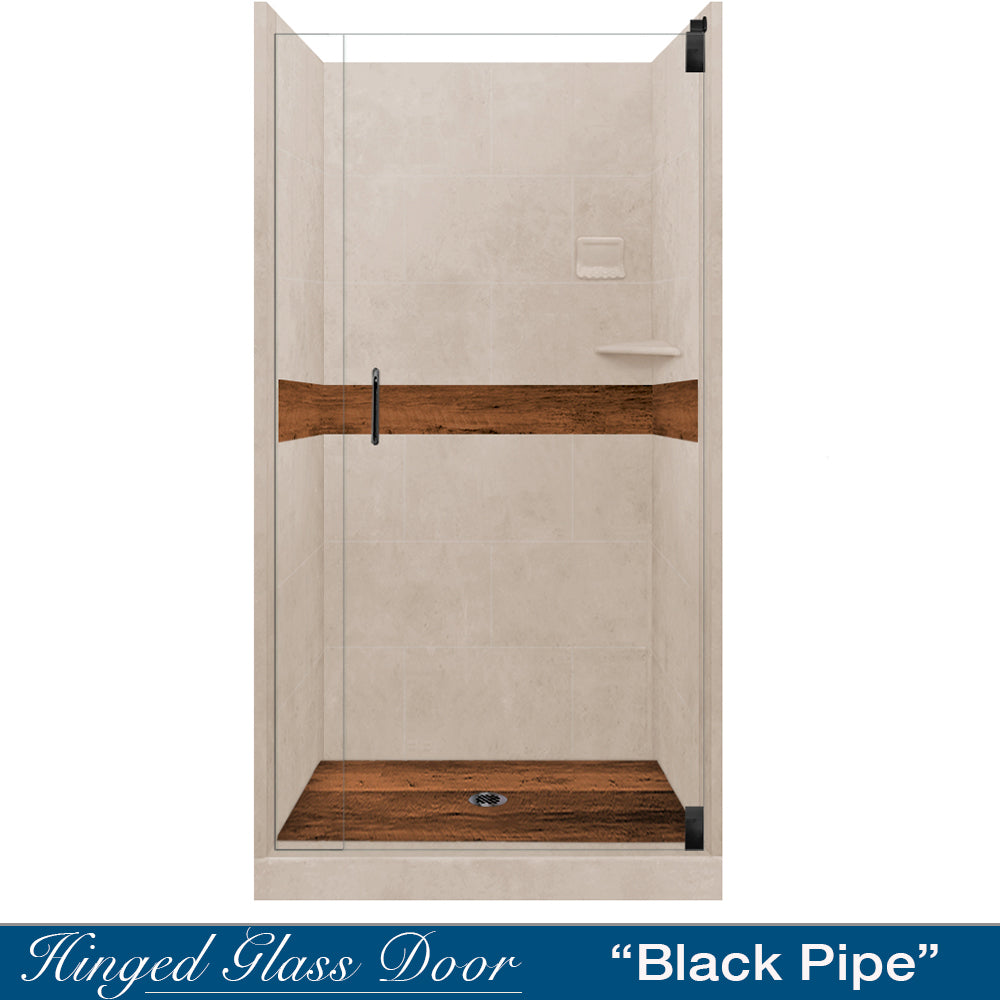 Brown Sugar Burnt Oak Small Alcove Shower Kit