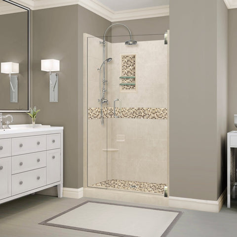 Roma Mosaic Desert Sand Small Alcove Shower Kit