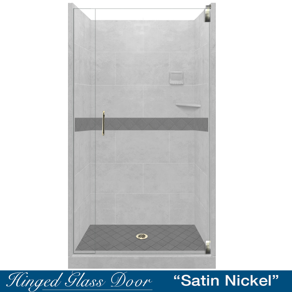 Diamond Portland Cement Small Alcove Shower Kit