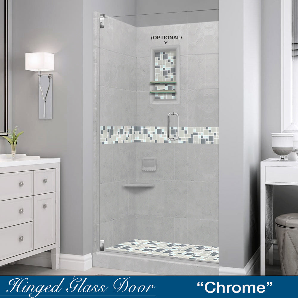 Newport Mosaic Portland Cement  Small Alcove Shower Kit