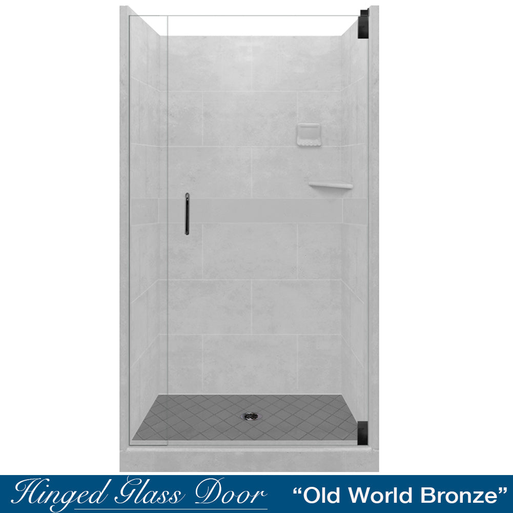 Diamond Solid Portland Cement Small Alcove Shower Kit