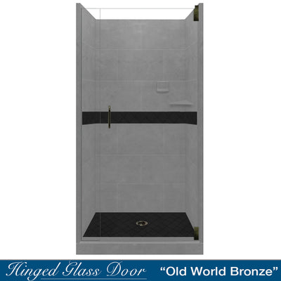 Diamond Wet Cement Small Alcove Shower Kit