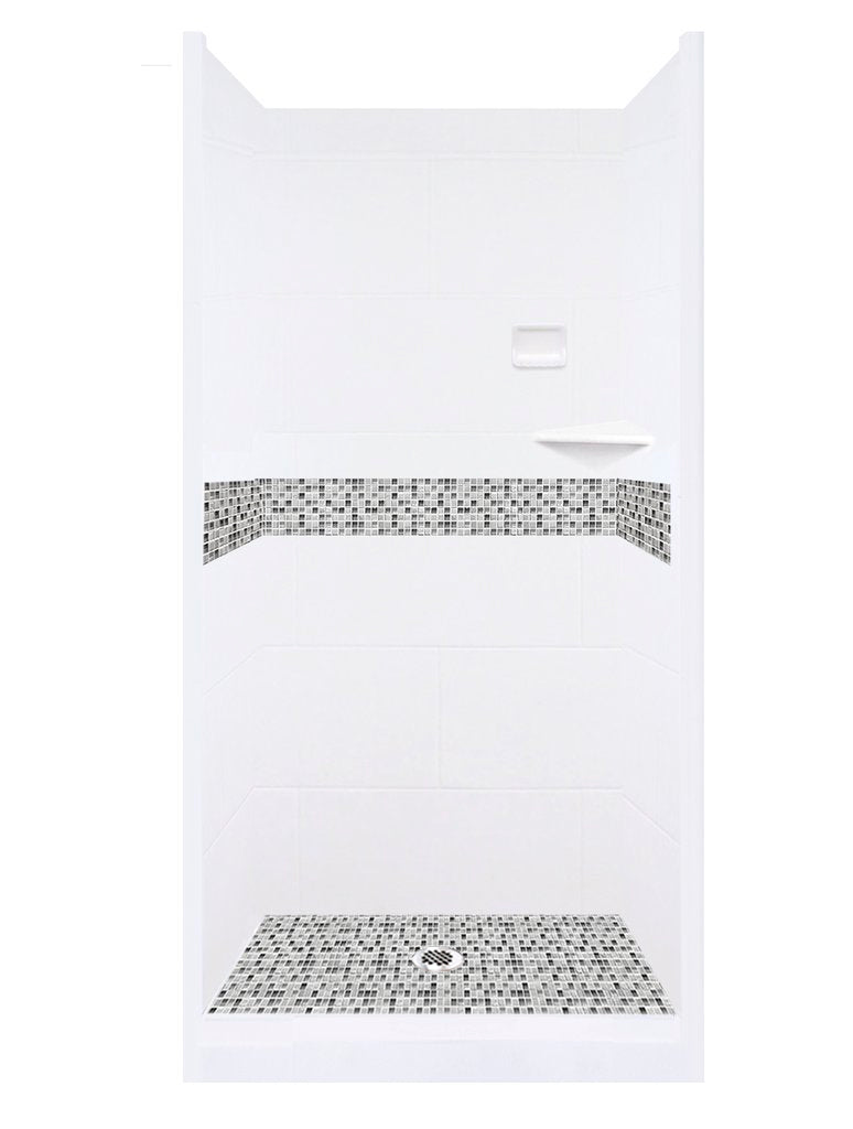 Mosaic Alcove Shower Kit Style & Color Options