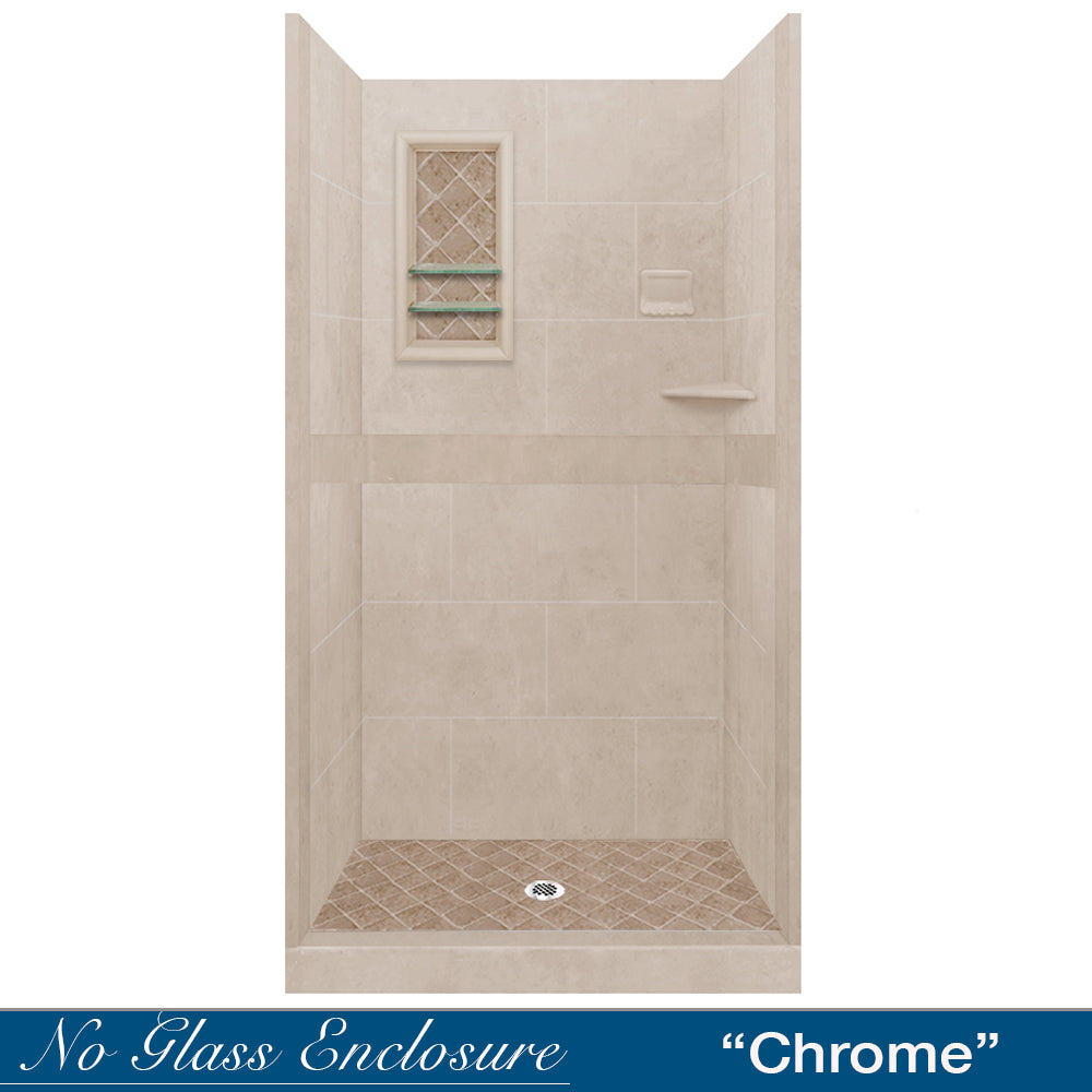 Diamond Solid Brown Sugar Small Alcove Shower Kit