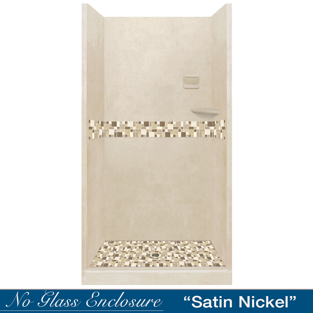 Tuscany Mosaic Desert Sand Small Alcove Shower Kit