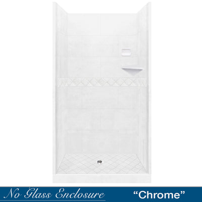 Diamond Natural Buff Small Alcove Shower Kit