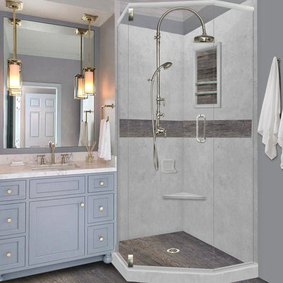 Custom Showers Your Way (Includes: Neo Corner Pan, Walls, Thresholds, and Optional Glass)