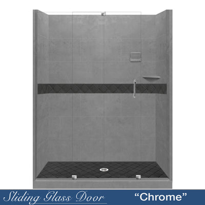 "Diamond Wet Cement 60"" Alcove Shower Kit  testing shower - American Bath Factory"