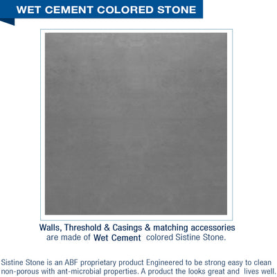 "Sterling Oak Wet Cement  60"" Alcove Shower Kit"