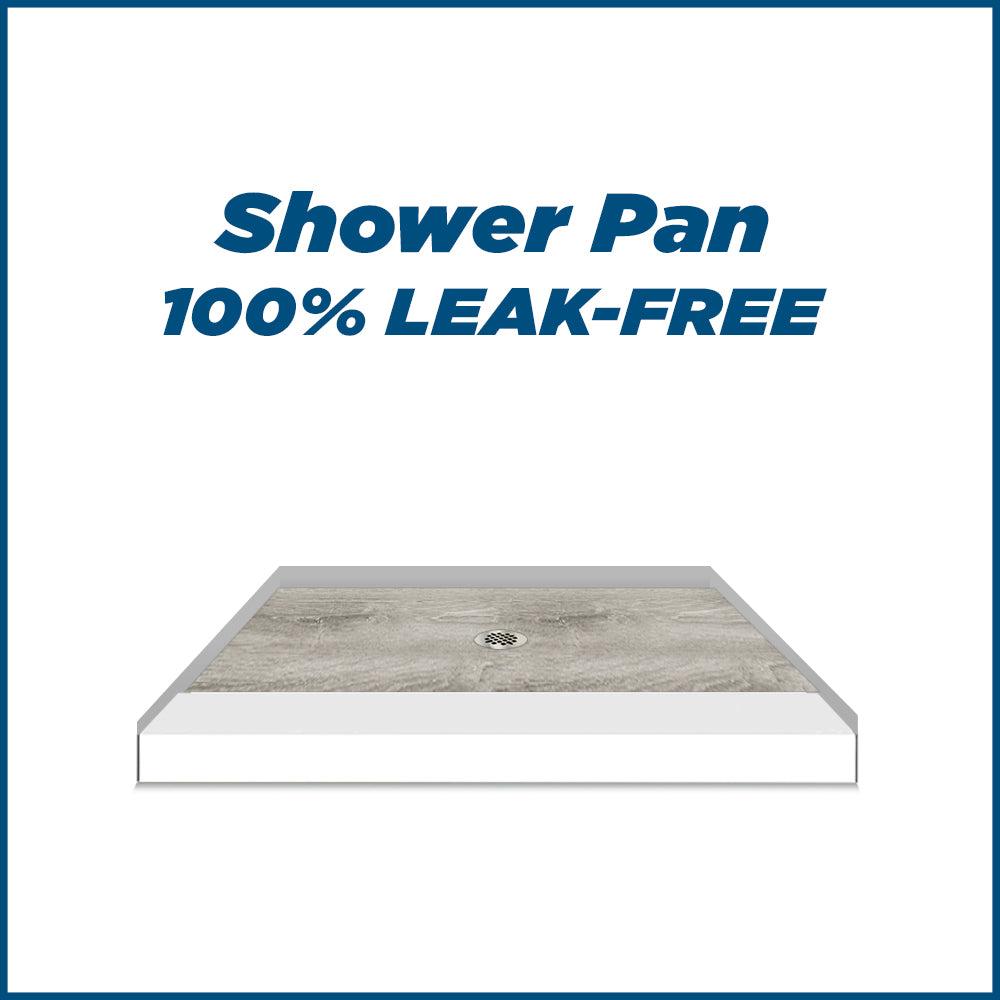 Natural Buff Sterling Oak Small Alcove Shower Kit