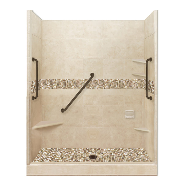 "8"" Corner Shower Shelf  Shower Detail - American Bath Factory"