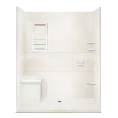 Rectangle Bench  Shower Detail - American Bath Factory