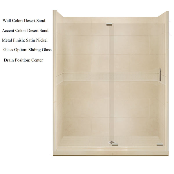 "Classic 60"" Alcove Shower Kit Style & Color Options - American Bath Factory"