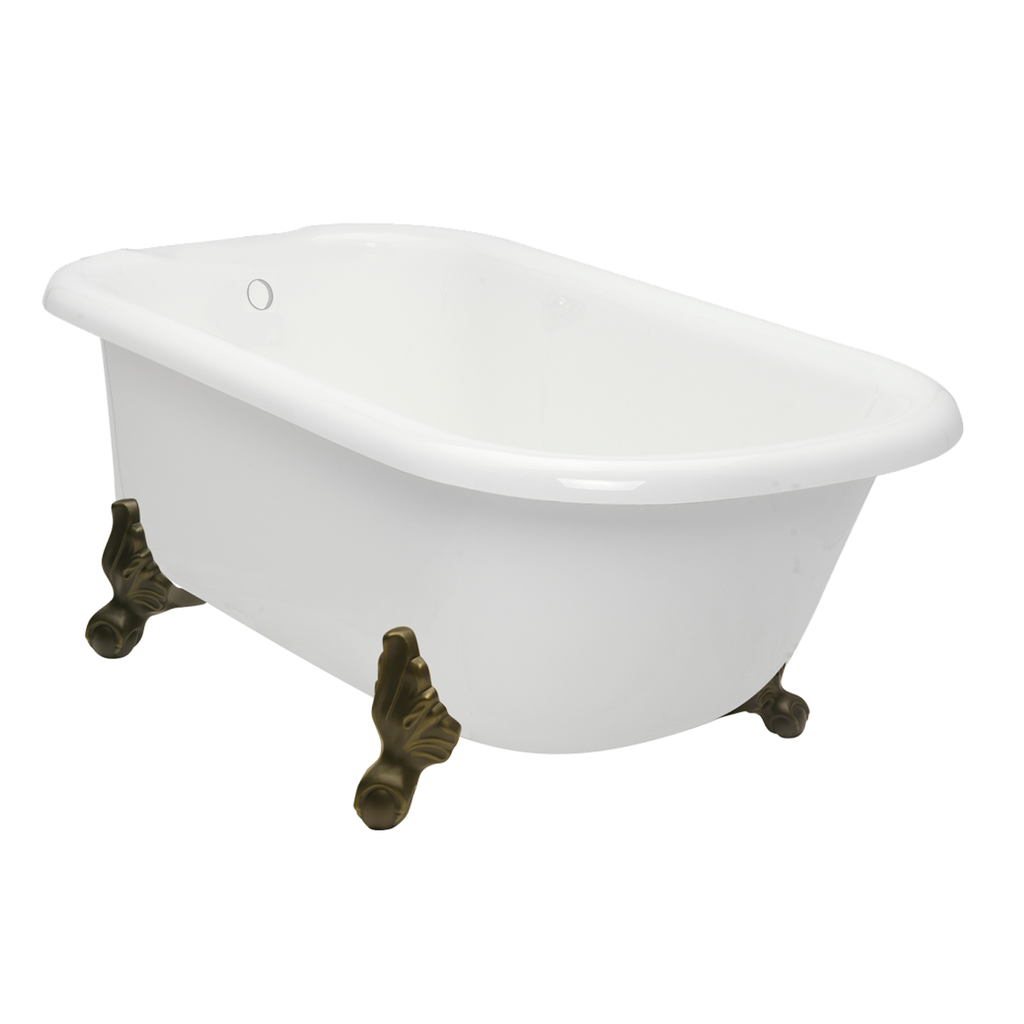 "Clearance - 54"" Classic Clawfoot Bathtub with free splash of color  Clearance Bathtub - American Bath Factory"