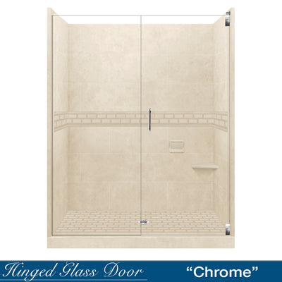 "Subway Desert Sand 60"" Alcove Shower Kit"