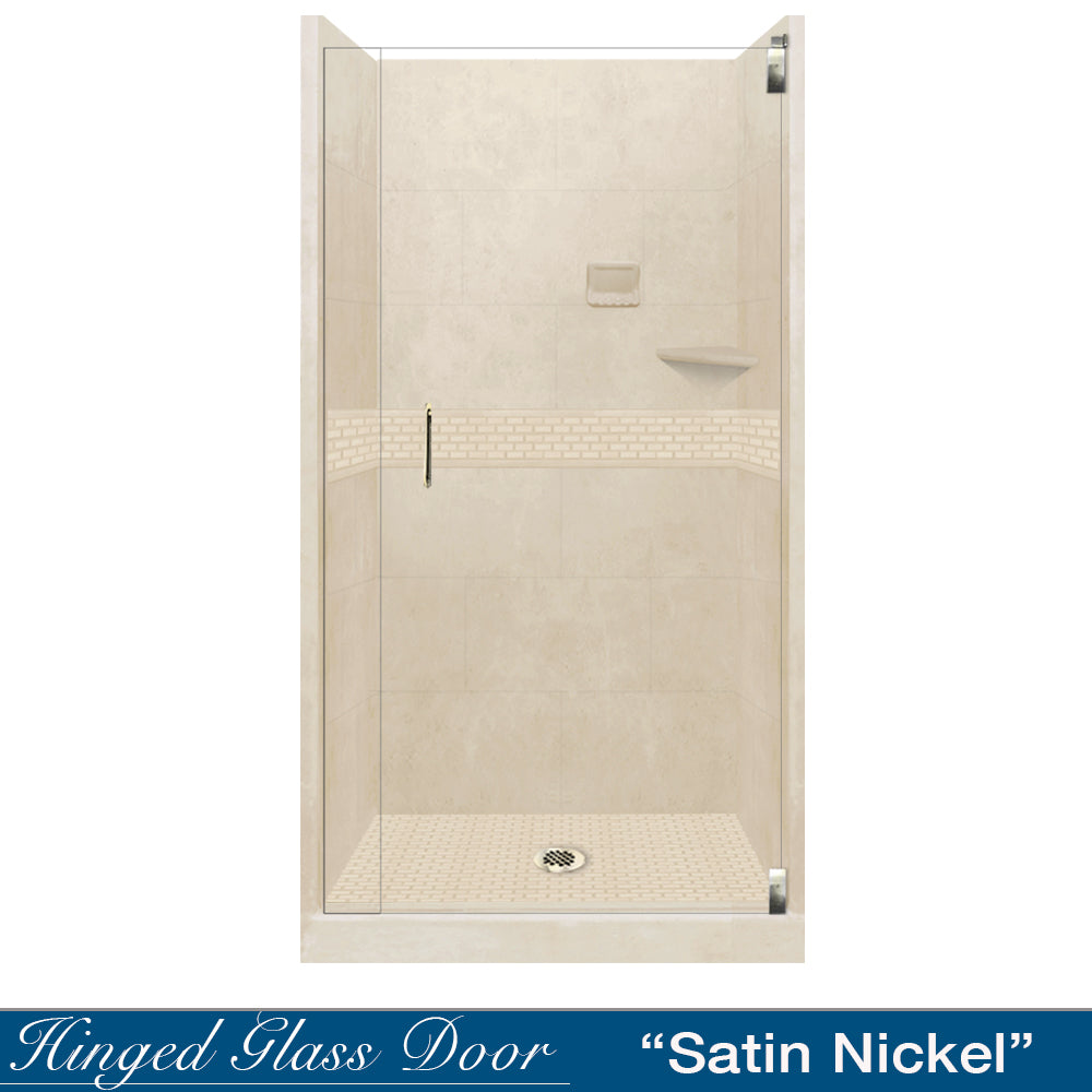 Classic Desert Sand Small Alcove Shower Kit