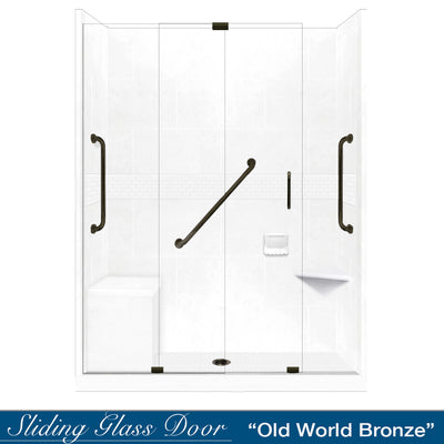 "Freedom Classic Natural Buff 60"" Alcove Shower Kit"