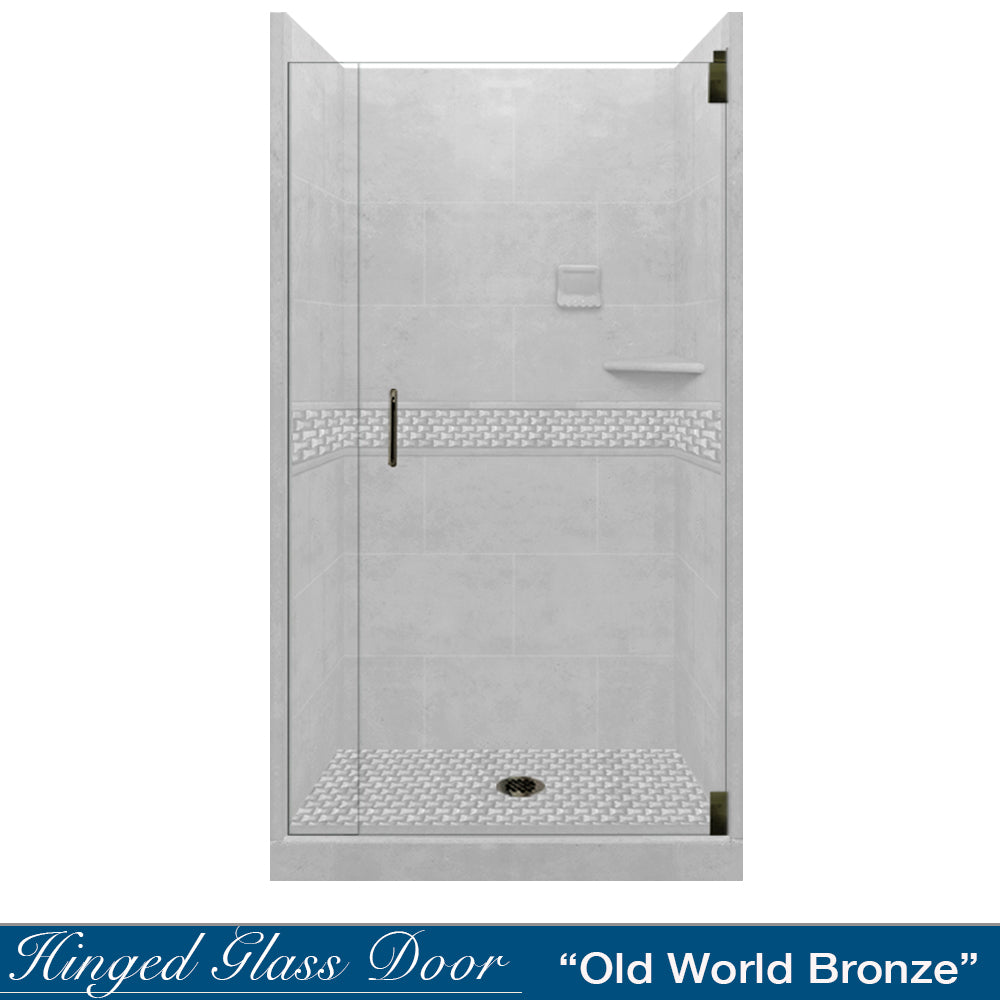 Jewel Portland Cement Small Alcove Shower Kit