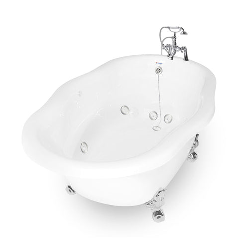 Caspian Clawfoot Whirlpool Bathtub  Bathtub - American Bath Factory